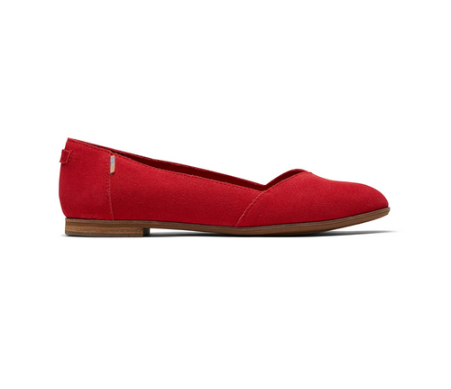 Poinsettia Suede Women's Julie Flat