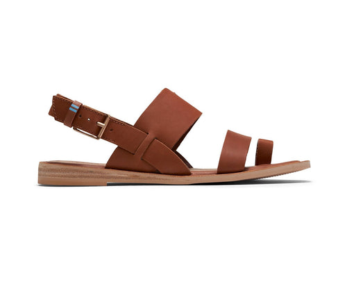 Tan Vegetable Tanned Leather Women's Freya Sandals