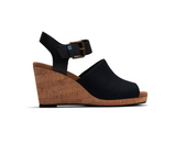 Black Oxford Leather Women's Tropez Wedges