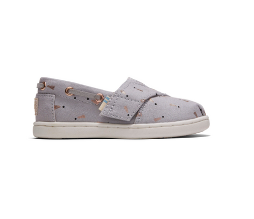 Glacier Grey Exclamation Dot Print Tiny TOMS Bimini Espadrilles
