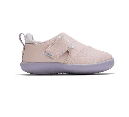 Petal Pink Nubuck Synthetic Baby Whiley Sneakers