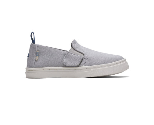Drizzle Grey Knit Tiny TOMS Luca Slip-Ons