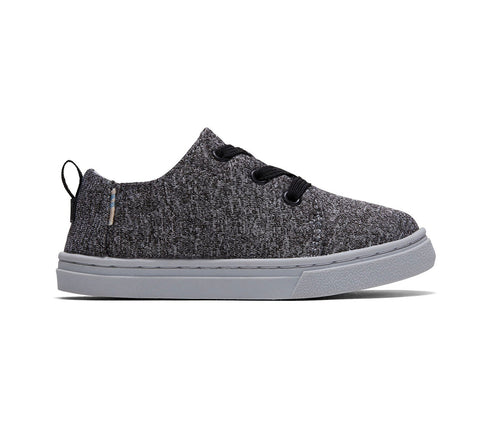 Grey REPREVE Melange Knit Tiny TOMS Lenny Elastic Sneakers