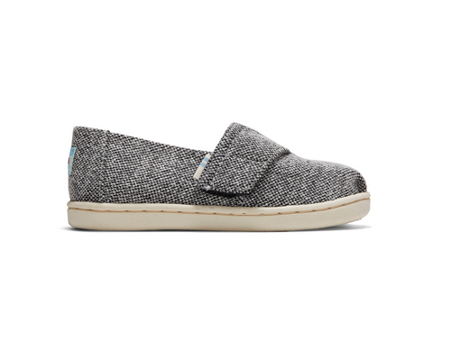 REPREVE Black Soft Heathered Knit Tiny TOMS Classics