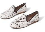 Birch Spotted Cow Hair Women's Darcy Flats