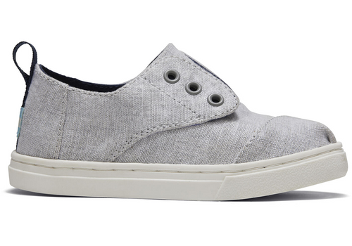 Grey Knit Tiny TOMS Cordone Sneakers
