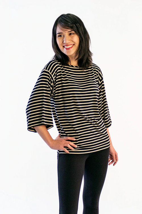 Jaclyn Shirt in Sahara Stripe