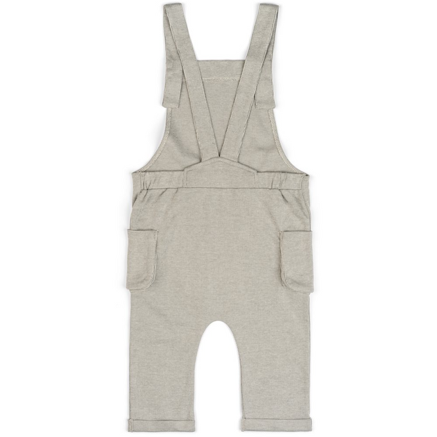 Organic Baby Overall in Grey Pinstripe