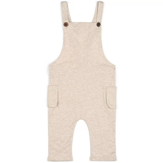Organic Baby Overall in Heather Oatmeal