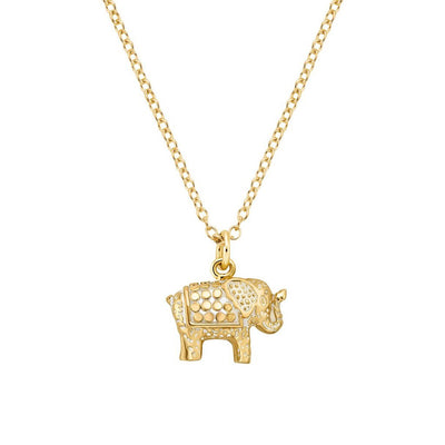 Mini Elephant Gold Necklace