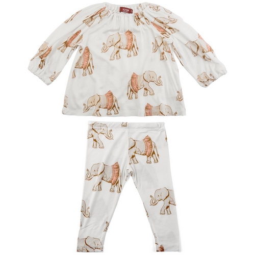 Dress & Legging Set in Tutu Elephants