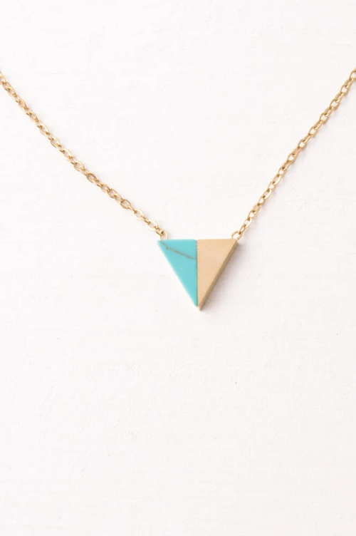 Marguerite Gold & Turquoise Pendant Necklace