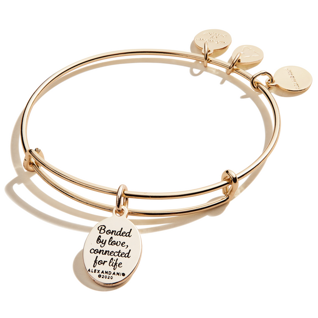 "Because I Love You ""Mom"" Bangle in Gold"