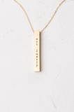 Justice Gold Bar Necklace