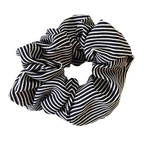 Black Stripe Scrunchie