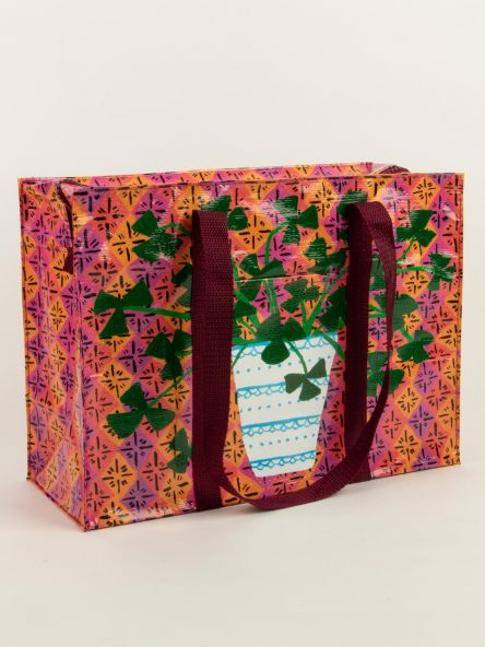 Shoulder Tote with Zipper: Pretty Plants