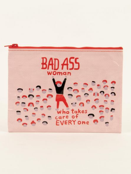 Zipper Pouch: Bad Ass Woman
