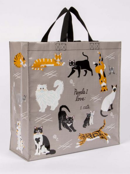 Shopper Tote: People I Love-Cats