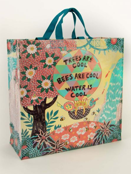 Shopper Tote: Trees & Bees