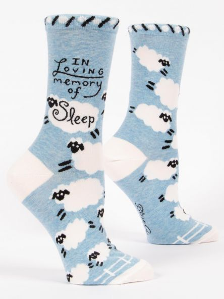 Women's Socks: In Loving Memory of Sleep