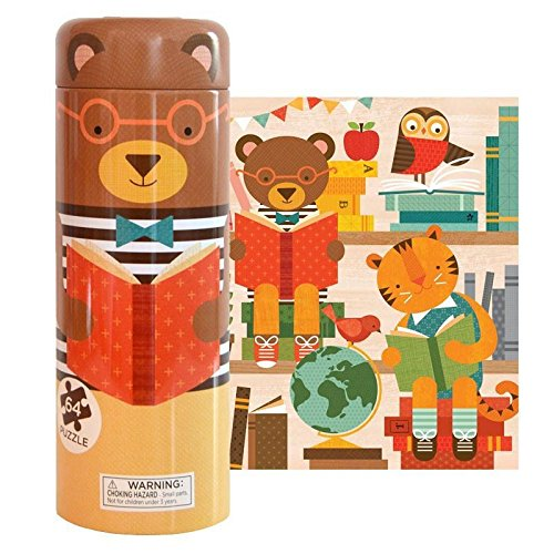 Story Time Bear 64-piece Puzzle Tin & Coin Bank