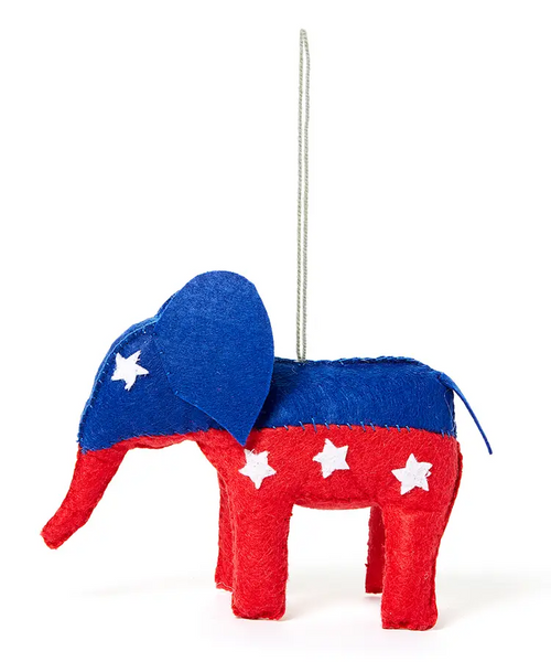 Political Elephant Ornament