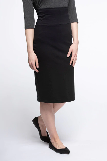 Geneva Midi Pencil Skirt in Black