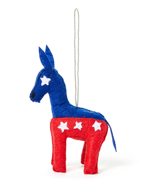 Political Donkey Ornament