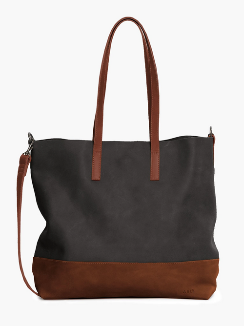 Abera Crossbody Tote in Whiskey/Black