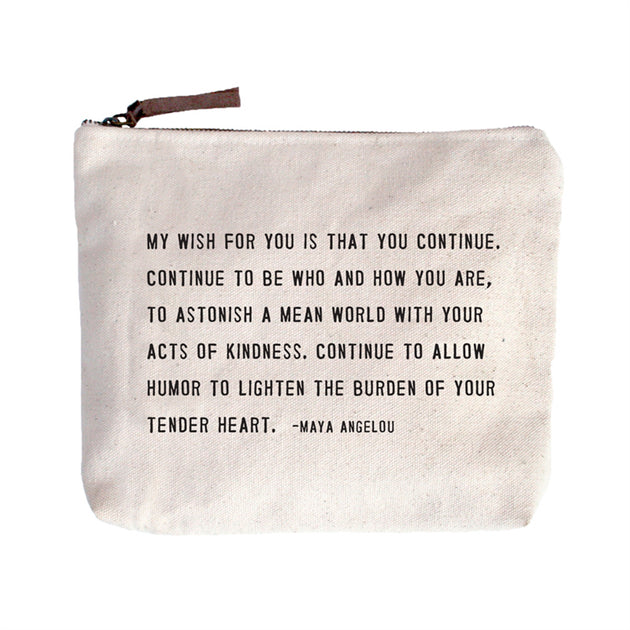 Cotton Quote Pouch Green Roost Culpeper Virginia Boutique