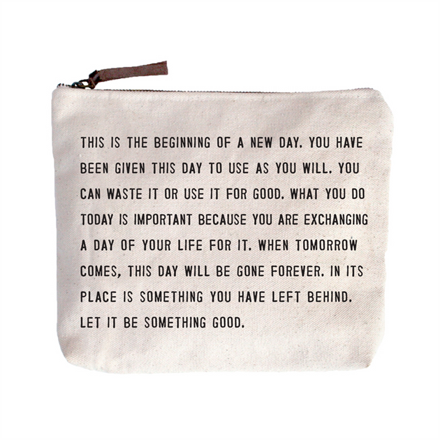 Quote Pouch: This is the beginning...