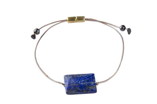 All One Bracelet in Snowflake Lapis - Clarity