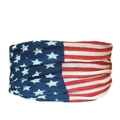 American Flag Tube Turban Headband