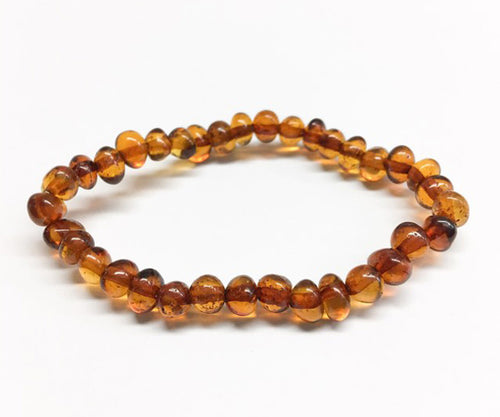 Polished Baltic Amber Teething Anklet