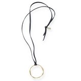 Organic Brass Open Circle Necklace