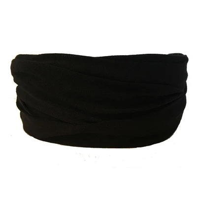 Black Tube Turban Headband