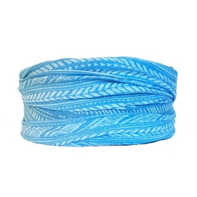 Blue Aztec Tube Turban Headband