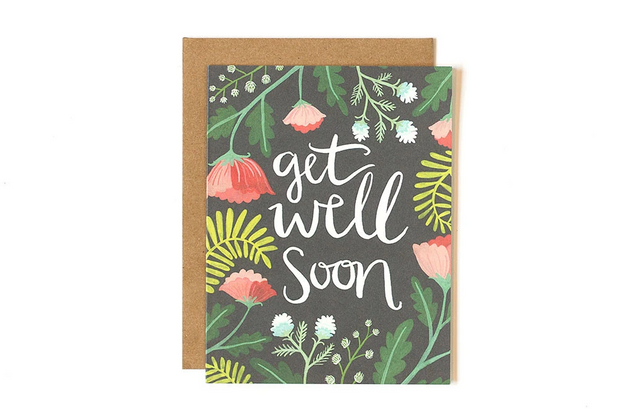 Get Well Floral Greeting Card