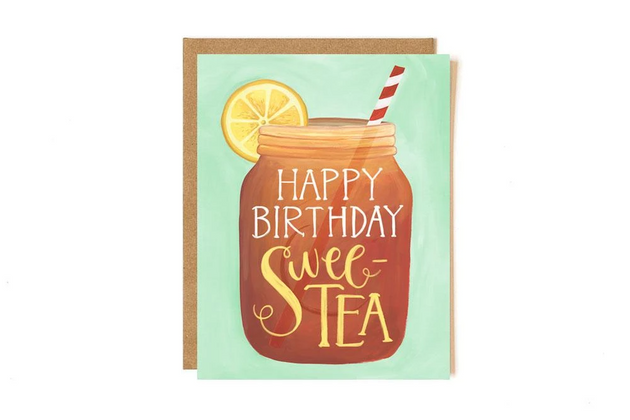 Sweet Tea Birthday Greeting Card