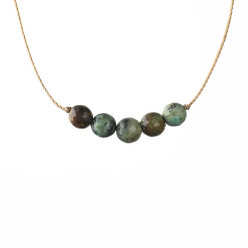 Intention Necklace in African Turquoise - Growth