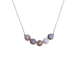 Intention Necklace in Botswana Agate - Change