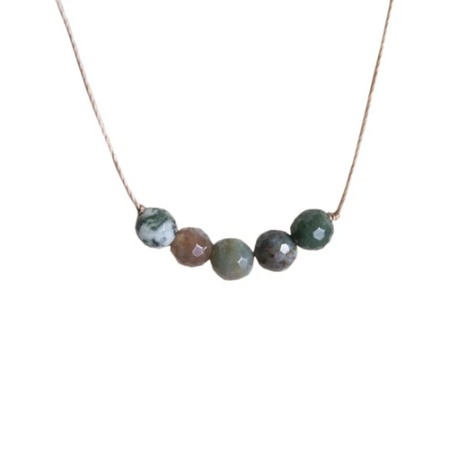 Intention Necklace in Fancy Jasper - Peace