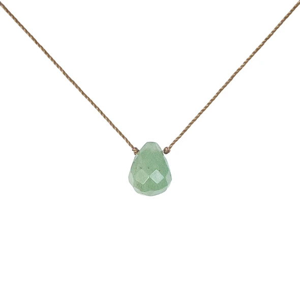 Soul Full of Light Necklace in Green Aventurine - Healing