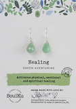 Soul Full of Light Earring in Green Aventurine - Healing