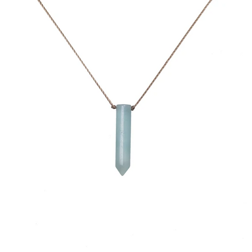 Dream Catcher Necklace in Amazonite - Courage