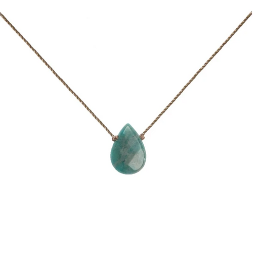 Soul Full of Light Necklace in Amazonite - Courage