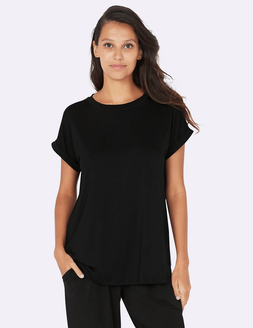 Downtime Lounge Top in Black