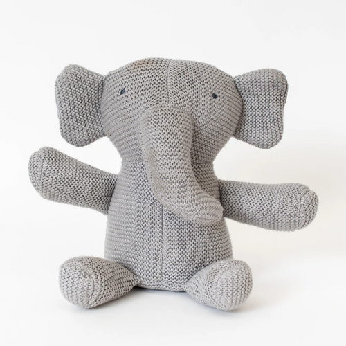 Knit Organic Cotton Elephant