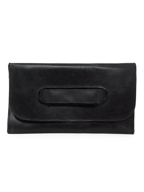 Mare Handled Clutch in Black