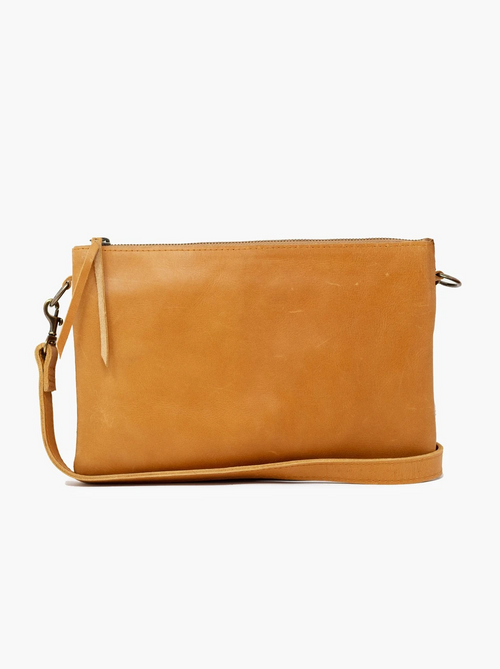 Martha Double Crossbody in Cognac